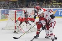 Prostějovští hokejisté nastoupili ve čtvrtém čtvrtfinále proti Slavii s Jakubem Neužilem v brance.