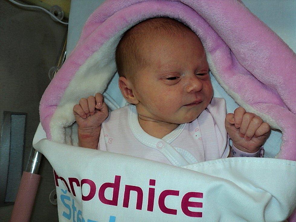 Eliška Chrzanová, Olomouc, narozena 12. října 2020, míra 50 cm, váha 2800 g