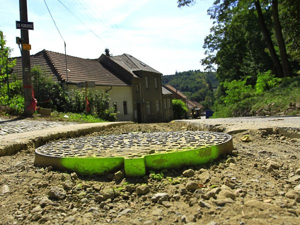 Výstavba kanalizace vPlumlově