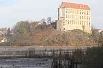 Vypuštění Podhradský rybník v Plumlově.