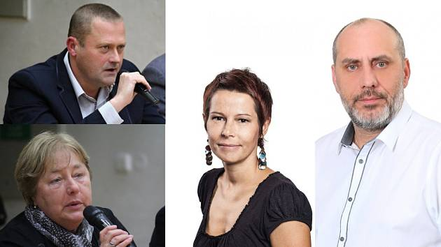Představitelé nové čtyřkoalice na prostějovské radnici. Jiří Pospíšil (Pévéčko), Alena Rašková (ČSSD), Milada Sokolová (ODS), František Jura (ANO)