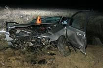 Tragická nehoda na silnici z Kostelce na Hané do Prostějova - 1. 2. 2021