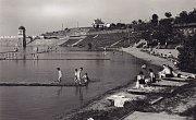 Na pláži bylo po vybudování přehrady postaveno letní koupaliště.