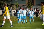 Fotbalisté Prostějova remizovali v domácím utkání F:NL s Jihlavou 1:1.radost Prostějova