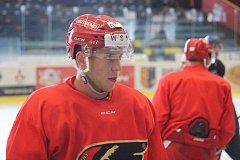 Hokejisté Prostějova poprvé před novou sezonou trénovali na ledě.David Dvořáček