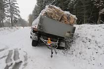 Havárie kamionu u Holubic