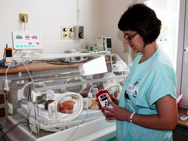 Oxymetr v prostějovské nemocnici