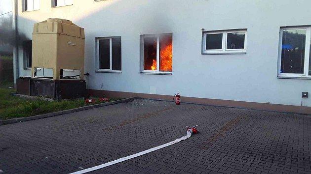 Požár firmy v Boskovické ulici v Plumlově