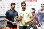 V Prostějově proběhlo finále dvouhry turnaje Czech Open, z vítězství se radoval Jiří Veselý. Federico Delbonis (vlevo)