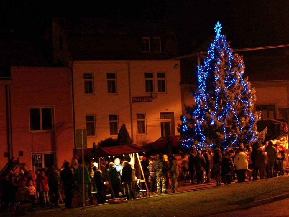 Vánoční strom v Plumlově