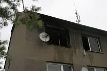 Požár bytu ve Studenci