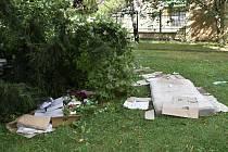 Prostějovští bezdomovci se utábořili v centru města