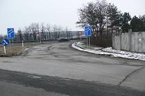 Existující nájezd na dálnici, který časem zmizí a přesune se blíže k Prostějovu