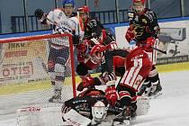Hokejové utkání mezi Litoměřicemi a Prostějovem,