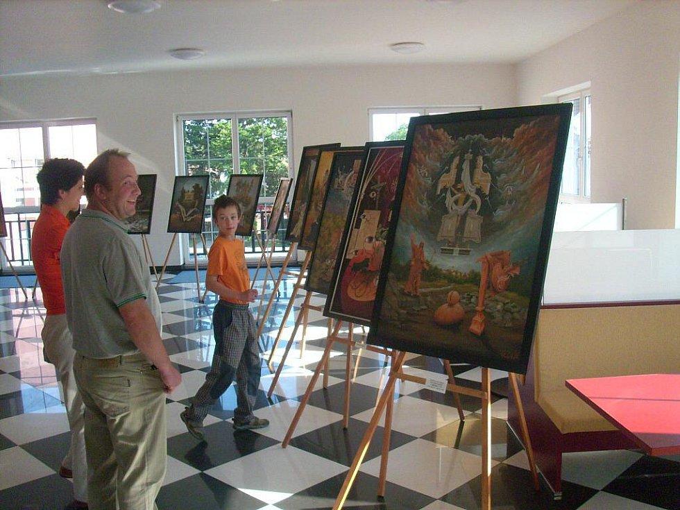 Výstava malíře Antonína Kovaříka z Brodku u Prostějova