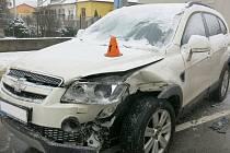 Nehoda dvou aut ve Vrahovicích - 10. 2. 2021