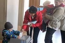 Krajské volby v objektu Zemědělského družstva v Domamyslicích