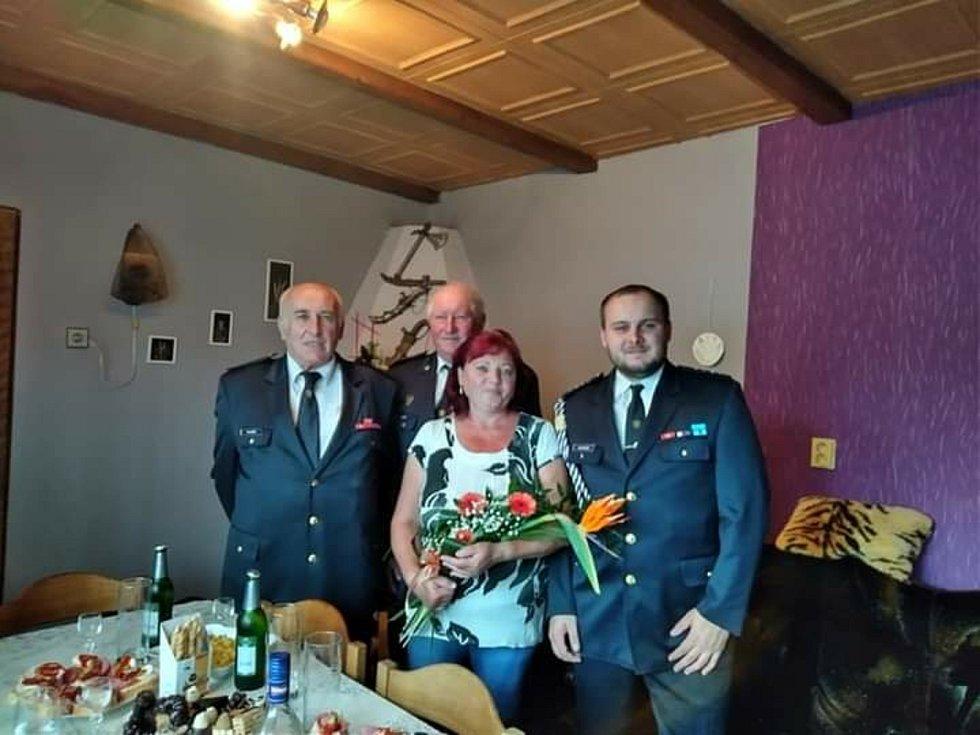 Starostou dobrovolných hasičů ve Stínavě je Michal Burget. Na snímku vpravo.
