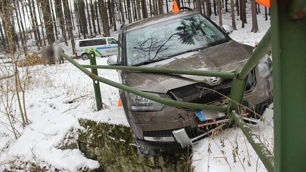 Havárie na mostku u Skřípova