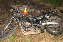 Nehoda motorkáře u Brodku u Prostějova