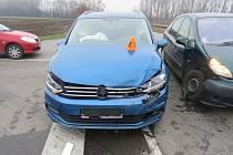 Nehoda v křižovatce mezi Prostějovem, Kostelcem na Hané, Smržicemi a Mostkovicemi.
