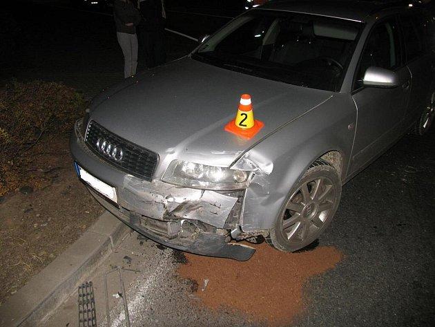 Nehoda na kruháči v Plumlovské ulici