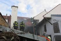 Požár rodinného domu v Hrubčicích