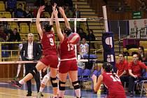 Prostějovské volejbalistky zahájily cestu za ziskem pátho titulu v řadě úspěšně. V úvodním finálovém duelu porazily Olymp Praha 3:0 na sety.