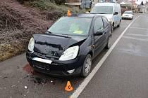 Nehoda auta s cisternou v Konici