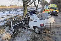 Nehoda peugeotu u Otaslavic