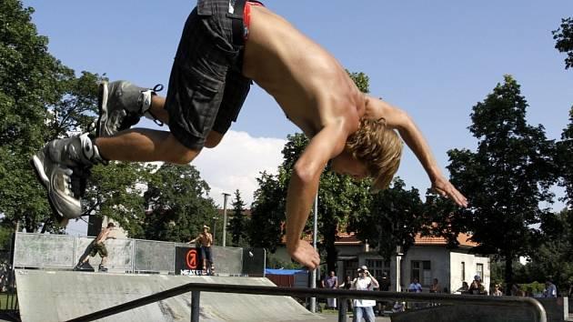 Exhibice v prostějovském skateparku