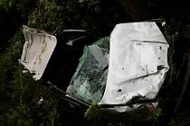 Čtvrteční nehoda dvou aut na R46