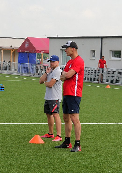 Druholigoví fotbalisté Prostějova se začali připravovat na novou sezonu. Nový trenér Jiří Jarošík