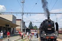 Lokomotiva Krémák na projížďce regionem