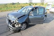 Nehoda dvou řidiček u Pivína