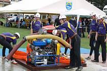 Pětadvacet sborů dobrovolných hasičů zde poměřilo síly v požárním útoku v rámci závěrečného kola soutěžního seriálu Velká cena Prostějovska – Páter Cup 2012.