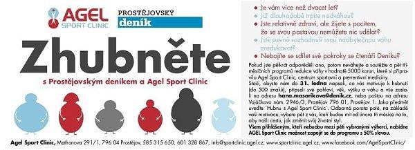 Zhubněte sProstějovským deníkem a Agel Sport Clinic