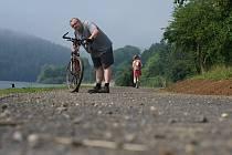 Plumlovská přehrada - rozestavěná cyklostezka - 27. 6. 2020