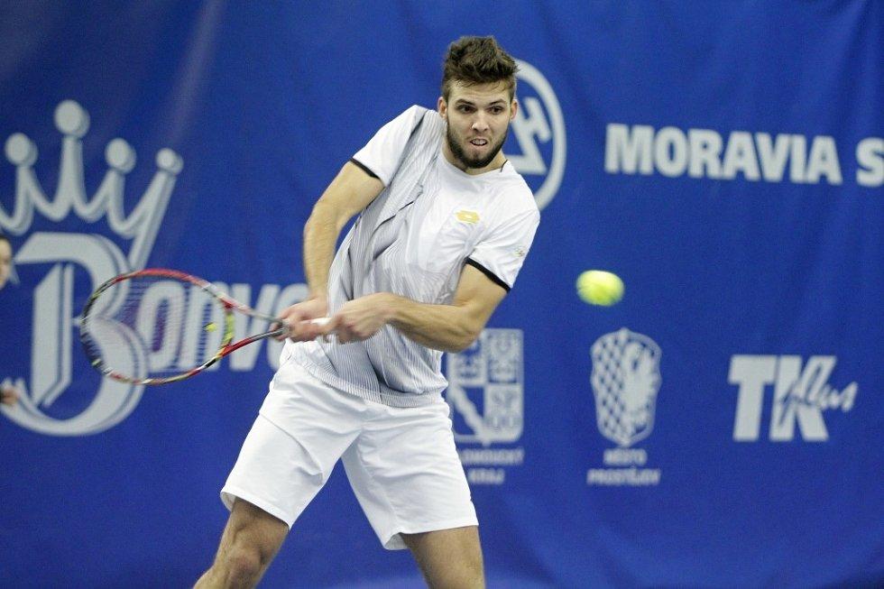 V Prostějově se konalo finále tenisové extraligy mezi domácím týmem a Spartou Praha  Jiří Veselý