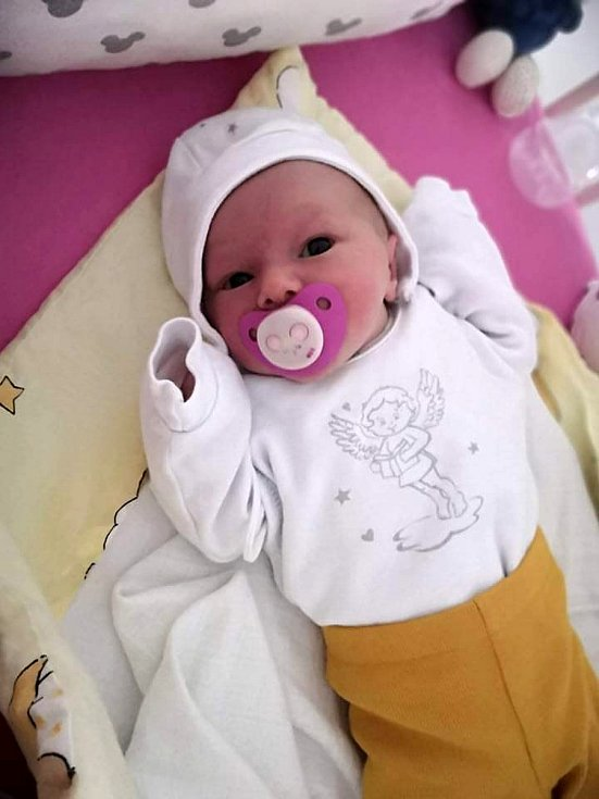 Nella Hadašová, Turovice, narozena 24. března 2021 v Přerově, míra 49 cm, váha 3036 g