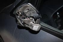 Zrcátková nehoda pod dálnicí D46