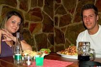 Ivanna Rusyn na večeři s Ivem Peštukou