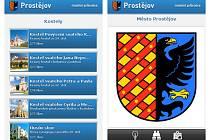 Mobilní průvodce městem - ukázka aplikace
