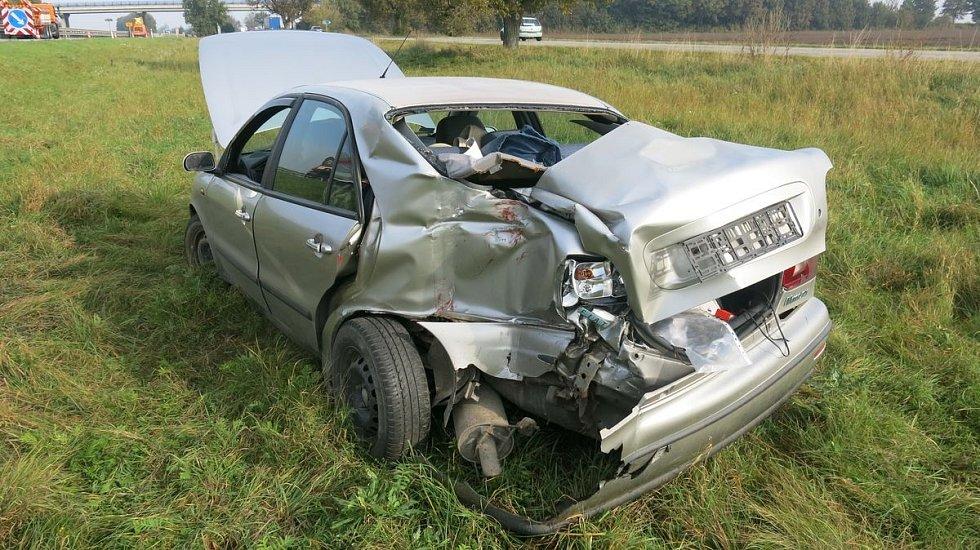 Nehoda fiatu na D46