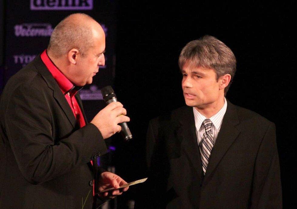Předávání cen Sportovec Olomouckého kraje 2012: vpravo Ivo Šilhánek