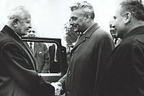 Ve středu 14. října 1970 navštívil okres Prostějov prezident republiky, armádní generál Ludvík Svoboda. Delegaci hlavy státu a vlády přivítali na hranicích okresu představitelé okresních a krajských stranických a státních orgánů.