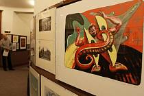 Prostějovská speciální škola Jistota vystavuje každoročně v Národním domě výtvarná díla, které vydraží ve veřejné aukci. Ilustrační foto