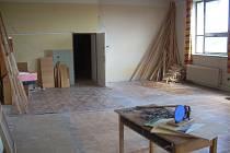 Muzeum Drahanské vrchoviny a vzdělávací centrum TGM v Drahanech - Partie z budoucího přednáškového sálu