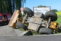 Nehoda traktoru u Výšovic