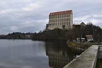 Podhradský rybník v Plumlově - prosinec 2020